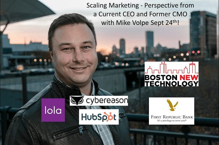 Startup Founder Talk: Scaling Marketing - Perspective from a Current CEO and Former CMO with Mike Volpe