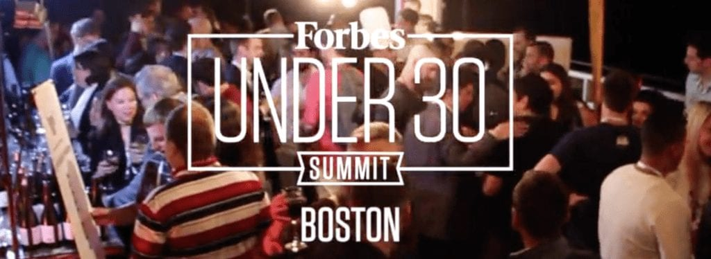 Forbes 30 Under 30 Summit Bostton 2018